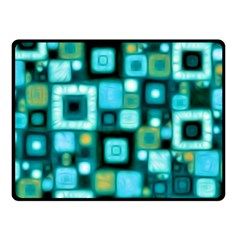 Teal Squares Fleece Blanket (Small)
