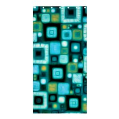 Teal Squares Shower Curtain 36  x 72  (Stall)