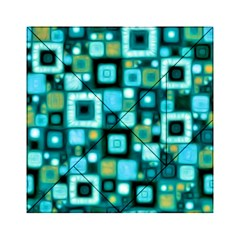 Teal Squares Acrylic Tangram Puzzle (6  X 6 )