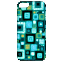 Teal Squares Apple iPhone 5 Classic Hardshell Case