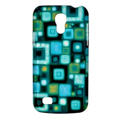 Teal Squares Galaxy S4 Mini