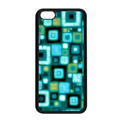 Teal Squares Apple iPhone 5C Seamless Case (Black)