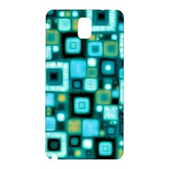 Teal Squares Samsung Galaxy Note 3 N9005 Hardshell Back Case
