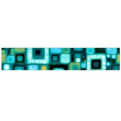 Teal Squares Flano Scarf (Large)