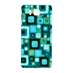 Teal Squares Samsung Galaxy Alpha Hardshell Back Case