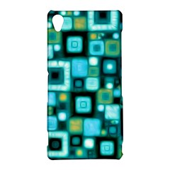 Teal Squares Sony Xperia Z3