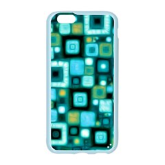 Teal Squares Apple Seamless iPhone 6/6S Case (Color)