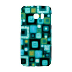 Teal Squares Galaxy S6 Edge
