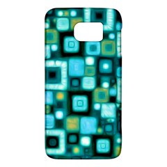 Teal Squares Galaxy S6
