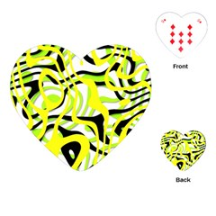 Ribbon Chaos Yellow Playing Cards (heart)