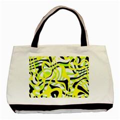Ribbon Chaos Yellow Basic Tote Bag