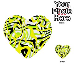 Ribbon Chaos Yellow Multi-purpose Cards (Heart)