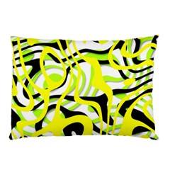 Ribbon Chaos Yellow Pillow Cases