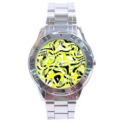 Ribbon Chaos Yellow Stainless Steel Men s Watch