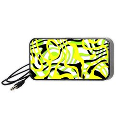 Ribbon Chaos Yellow Portable Speaker (Black)