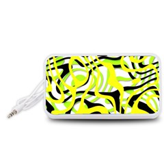 Ribbon Chaos Yellow Portable Speaker (White)