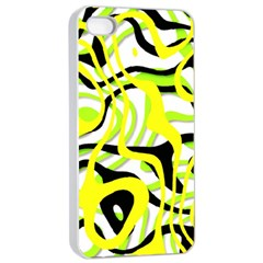 Ribbon Chaos Yellow Apple Iphone 4/4s Seamless Case (white)