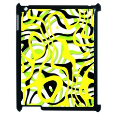 Ribbon Chaos Yellow Apple iPad 2 Case (Black)