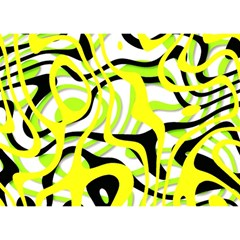 Ribbon Chaos Yellow Birthday Cake 3D Greeting Card (7x5)