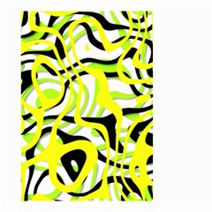 Ribbon Chaos Yellow Small Garden Flag (Two Sides)