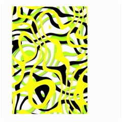 Ribbon Chaos Yellow Large Garden Flag (Two Sides)