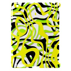 Ribbon Chaos Yellow Apple iPad 3/4 Hardshell Case (Compatible with Smart Cover)
