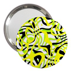 Ribbon Chaos Yellow 3  Handbag Mirrors