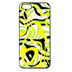 Ribbon Chaos Yellow Apple iPhone 5 Seamless Case (Black)
