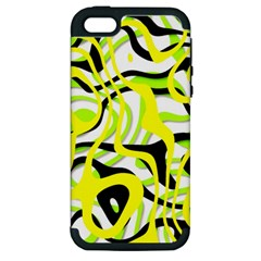 Ribbon Chaos Yellow Apple iPhone 5 Hardshell Case (PC+Silicone)