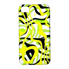 Ribbon Chaos Yellow Apple iPhone 4/4S Hardshell Case with Stand