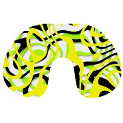 Ribbon Chaos Yellow Travel Neck Pillows