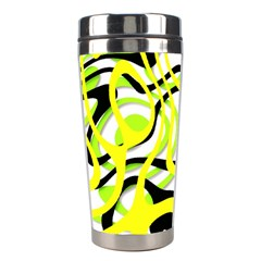Ribbon Chaos Yellow Stainless Steel Travel Tumblers
