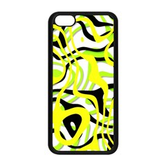 Ribbon Chaos Yellow Apple iPhone 5C Seamless Case (Black)