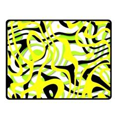 Ribbon Chaos Yellow Double Sided Fleece Blanket (Small)