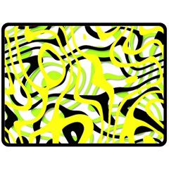 Ribbon Chaos Yellow Double Sided Fleece Blanket (Large)
