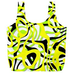 Ribbon Chaos Yellow Full Print Recycle Bags (L)
