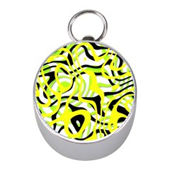 Ribbon Chaos Yellow Mini Silver Compasses