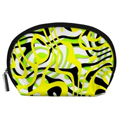 Ribbon Chaos Yellow Accessory Pouches (Large)