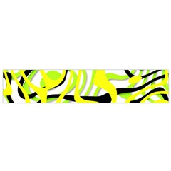 Ribbon Chaos Yellow Flano Scarf (small)