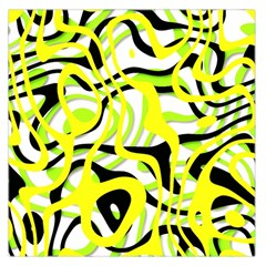Ribbon Chaos Yellow Large Satin Scarf (Square)