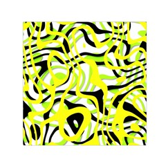 Ribbon Chaos Yellow Small Satin Scarf (square)