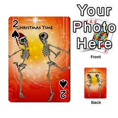 Dancing For Christmas, Funny Skeletons Playing Cards 54 Designs
