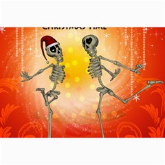 Dancing For Christmas, Funny Skeletons Collage 12  x 18