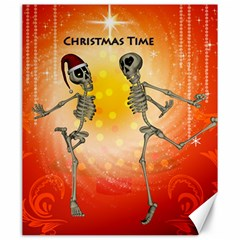 Dancing For Christmas, Funny Skeletons Canvas 20  x 24