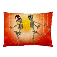 Dancing For Christmas, Funny Skeletons Pillow Cases