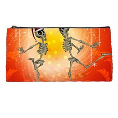 Dancing For Christmas, Funny Skeletons Pencil Cases