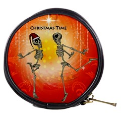 Dancing For Christmas, Funny Skeletons Mini Makeup Bags