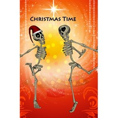 Dancing For Christmas, Funny Skeletons 5.5  x 8.5  Notebooks