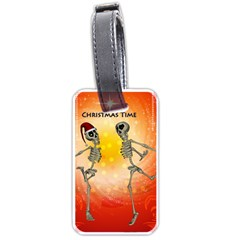 Dancing For Christmas, Funny Skeletons Luggage Tags (Two Sides)