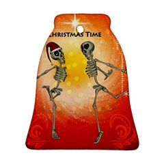 Dancing For Christmas, Funny Skeletons Bell Ornament (2 Sides)